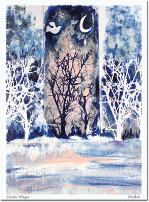 Another Creation by Michele Pulver Holiday Greeting Cards - Winter Magic