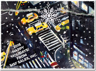 Another Creation by Michele Pulver Holiday Greeting Cards - Street Art