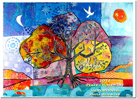 Another Creation by Michele Pulver Holiday Greeting Cards - Four Seasons of Peace
