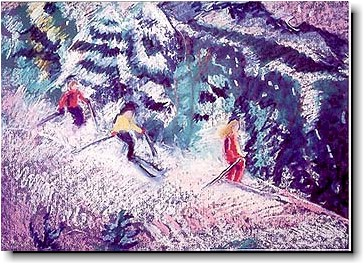 Another Creation by Michele Pulver Holiday Greeting Cards - I'd Rather Be Skiing