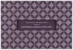 Checkerboard Corporate Holiday Greeting Cards - Aubergine Holiday (HLC-CAC-K)