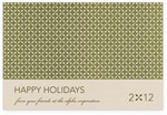 Checkerboard Corporate Holiday Greeting Cards - Fresh Green Greetings (HLC-DPE-C)