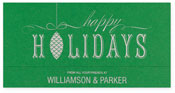 Checkerboard Corporate Holiday Greeting Cards - Pinecone (HLC-ENQ-N)