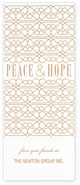 Checkerboard Corporate Holiday Greeting Cards - Peace & Hope (HLC-OWQ-G)