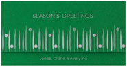 Checkerboard Corporate Holiday Greeting Cards - Modern Forest (HLC-JVA-K)