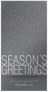 Checkerboard Corporate Holiday Greeting Cards - Modern Snowfall (HLC-NTR-D)