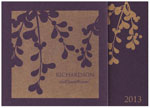 Checkerboard Corporate Holiday Greeting Cards - Golden Berry Bough (HLC-WIB-L)