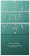 Checkerboard Corporate Holiday Greeting Cards - Simply Stated (HLC-DMT-O)