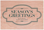 Checkerboard Corporate Holiday Greeting Cards - Maple Marquee (HLC-FDP-D)