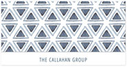 Checkerboard Corporate Holiday Greeting Cards - Patterned Flurry (HLC-FHR-J)