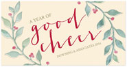 Checkerboard Corporate Holiday Greeting Cards - A Year of Good Cheer (HLC-LCU-N)