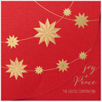 Checkerboard Corporate Holiday Greeting Cards - Strands of Stars (HLC-NGY-X)