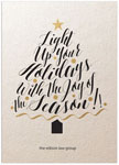 Checkerboard Corporate Holiday Greeting Cards - Calligraphy Tree (HLC-QVA-R)