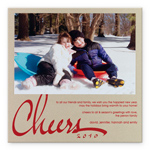 Checkerboard Holiday Photo Card - Cheers (HLP-DRH-U)