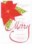 Checkerboard Holiday Greeting Cards - Patterned Poinsettia (HLG-HGT-Q)