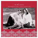 Checkerboard Holiday Photo Cards - Crimson Decor (HLG-HRG-O)