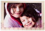 Checkerboard Holiday Photo Cards - Crimson and Champagne (HLG-JLJ-N)