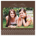 Checkerboard Holiday Photo Cards - Silver Decor (HLG-JMF-K)