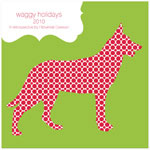 Checkerboard Digital Holiday Photo Cards - Happy Doggy-days (HLG-ALM-H)