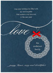 Checkerboard Holiday Greeting Cards - Love (HLG-GEU-O)