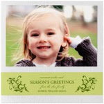 Checkerboard Holiday Photo Cards - Wintry Woodgrain (HLG-KAY-S)
