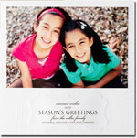Checkerboard Holiday Photo Cards - Debossed Marquis (HLG-KYM-E)