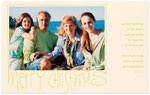 Checkerboard Holiday Photo Cards - Merry Christmas (HLG-NDF-F)