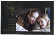 Checkerboard Holiday Photo Cards - Golden Snowflake (HLG-NRH-V)