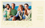 Checkerboard Holiday Photo Cards - Season's Greetings (HLG-UOG-Y)