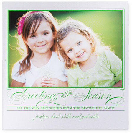 Checkerboard Holiday Photo Cards - Greetings  (HLG-ESL-R)