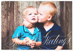 Checkerboard Digital Holiday Photo Cards - Holiday Lettering  (Happy Holidays) (HLG-BSR-U)