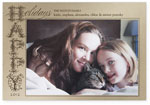 Checkerboard Holiday Photo Cards - Happy Holidays Ornate (HLG-CNO-N)