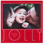 Checkerboard Holiday Photo Cards - Let's Get Jolly (HLG-DWS-B)