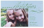 Checkerboard Holiday Photo Cards - Merry Christmas (HLG-IXC-R)