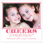 Checkerboard Holiday Photo Cards - Cheers (HLG-KCO-K)