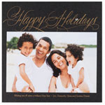Checkerboard Holiday Photo Cards - Handwritten Wishes (Happy Holidays) (HLG-KTM-Z)