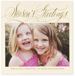 Checkerboard Holiday Photo Cards - Season's Greetings  (HLG-LPN-X)