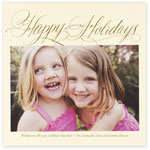 Checkerboard Holiday Photo Cards - Happy Holidays (HLG-LVP-F)
