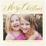 Checkerboard Holiday Photo Cards - Merry Christmas (HLG-MAC-Y)