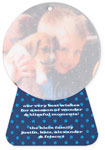 Checkerboard Digital Holiday Photo Cards - Stand-up Snowglobe (HLG-MMU-C)