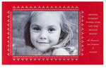 Checkerboard Holiday Photo Cards - Refined (Horizontal) (HLG-OEX-Z)