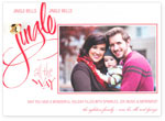 Checkerboard Digital Holiday Photo Cards - Jingle Bell (HLG-PUL-E)