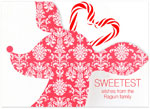 Checkerboard Holiday Greeting Cards - Sweet Antlers (WITHOUT Candy) (HLG-AJA-T)