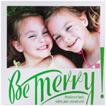 Checkerboard Holiday Photo Cards - Be Merry! (HLG-DKB-Y)