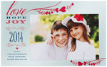 Checkerboard Holiday Photo Cards - Holiday Hearts (HLG-DUF-M)