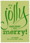 Checkerboard Holiday Greeting Cards - Jolly Holiday (HLG-FBY-O)