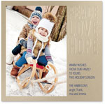 Checkerboard Holiday Photo Cards - Embossed Wishes (Peace, Love & Hope) (HLG-HJE-E HLG-WKB-R)