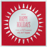 Checkerboard Holiday Greeting Cards - Radiant Trees (HLG-HLD-F)