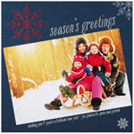 Checkerboard Holiday Photo Cards - Jeweltone Greeting (HLG-MFR-S)