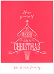Checkerboard Holiday Greeting Cards - Merry Little Christmas (HLG-OFM-P)